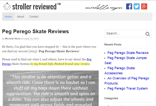stroller reviewed
